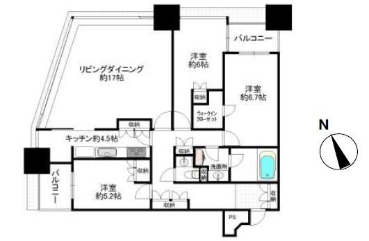 青山パークタワーの間取図1