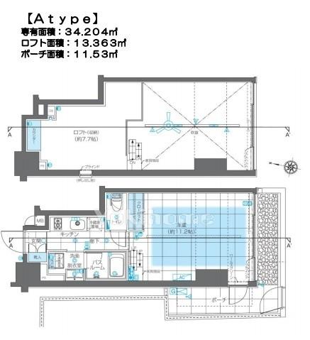 ズーム神宮前の間取図1