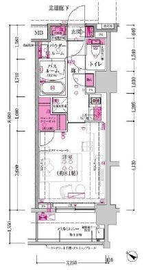 ザレジデンス赤坂檜町の間取図1