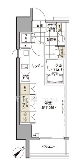パークハビオ渋谷の間取図1